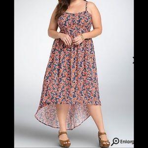 Torrid Hi-Lo Floral Dress